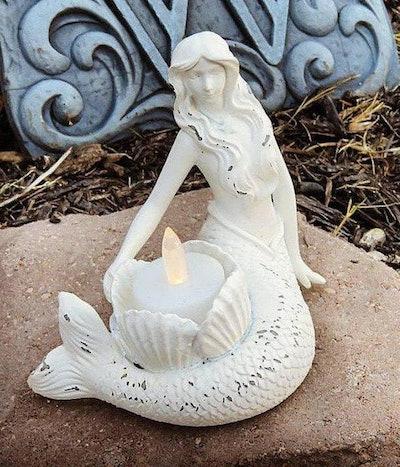 Mermaid Decor, Candle Holder