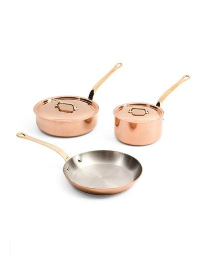Mauviel M'Heritage Made In France 5pc Copper Cookware Set
