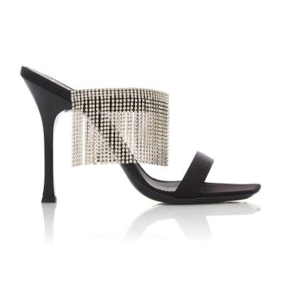 Fringed Crystal Sandals
