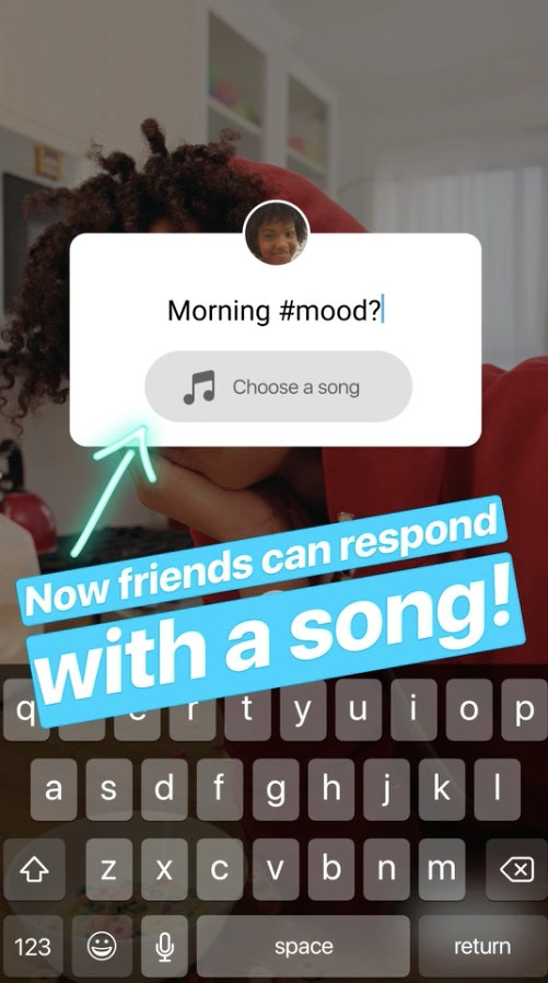 Instagram's New Music Reply For Questions In Stories Lets You Share