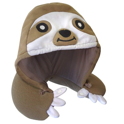 Chibiya Sloth Hooded Animal Travel Neck Pillow