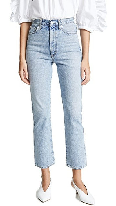 AGOLDE High Rise Kick Pinch Waist Jeans in Impression