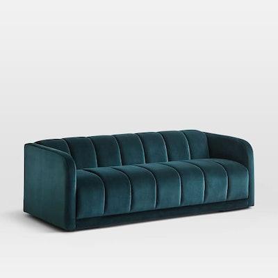 """Bardot Sofa (77""""), Astor Velvet, Evergreen"""
