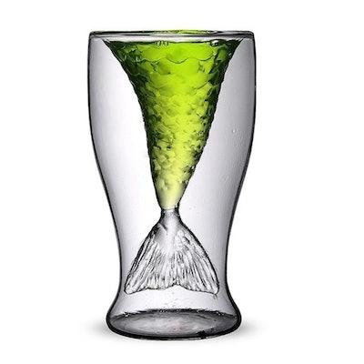 Homecube 2 Pack Creative Personality Mermaid Handmade Glass