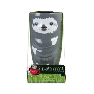 Slo-Mo Cocoa Sloth Mug and Cocoa Mix Gift Set