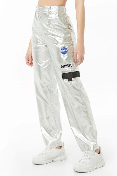 NASA Metallic Cargo Pants