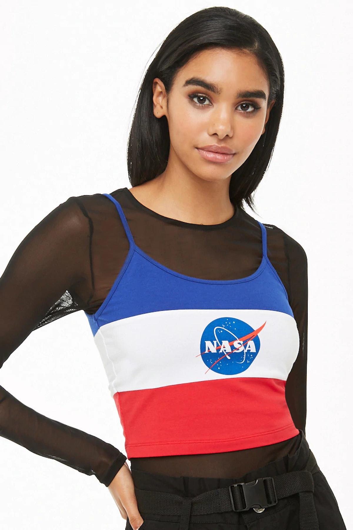 NASA Colorblock Cropped Cami