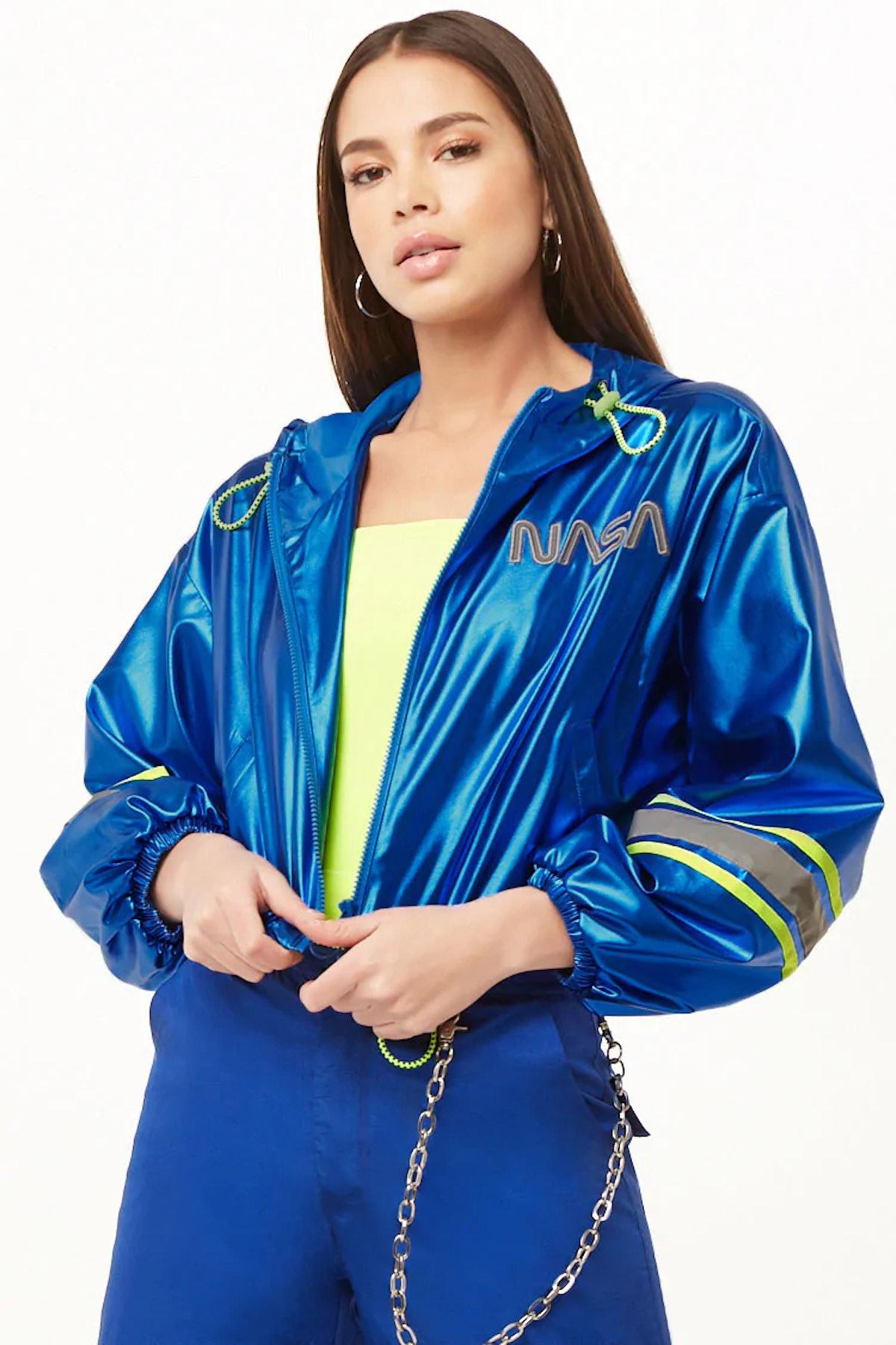 NASA Hooded Reflective-Trim Jacket