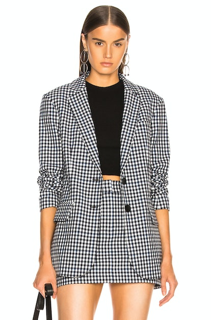 Gingham Suiting Blazer