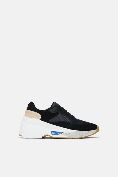 Thick Soled Mixed Sneakers