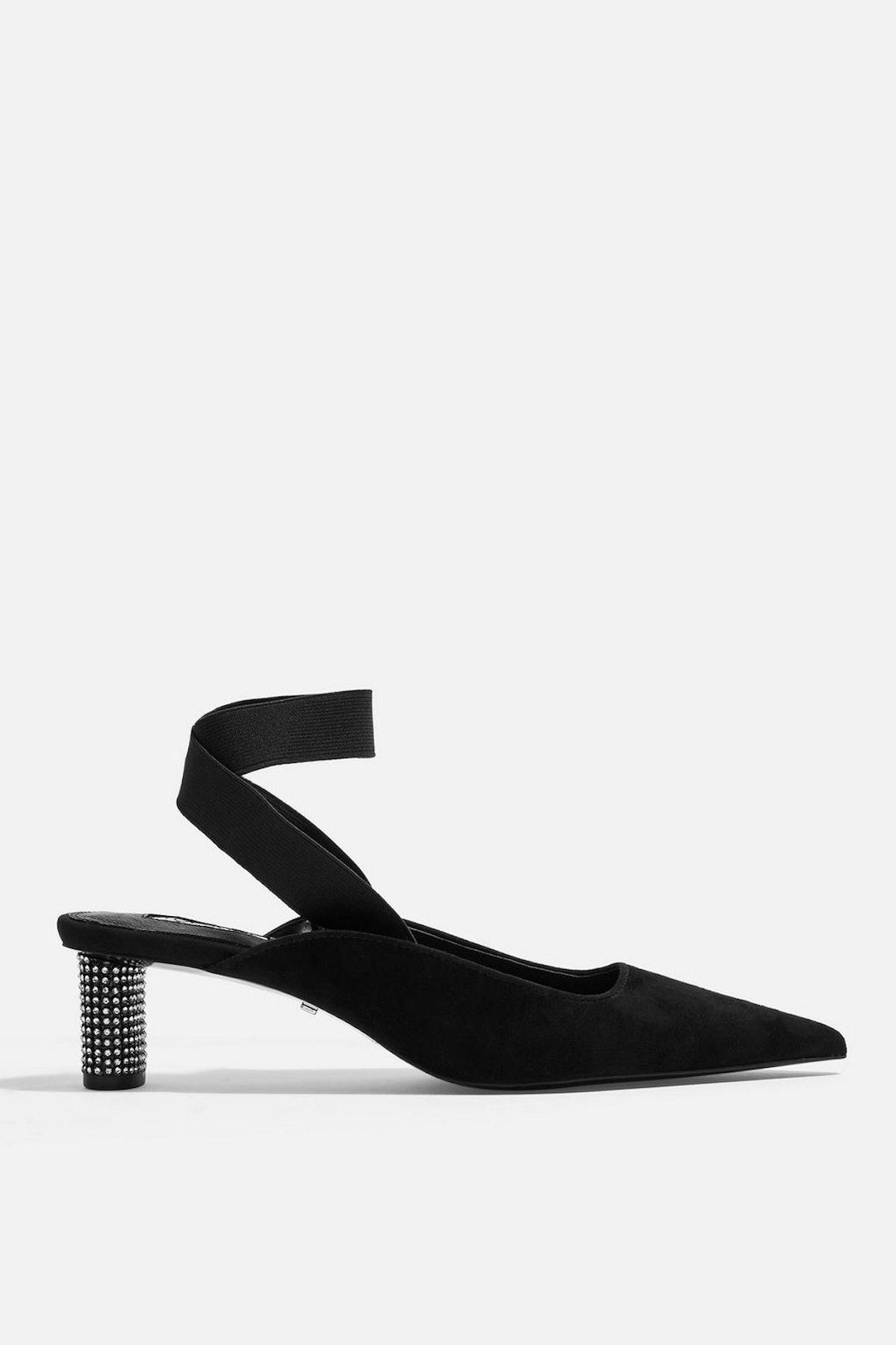 JAX Pointed Diamante Heel Shoes