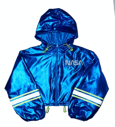 NASA Hooded Reflective Trim Jacket