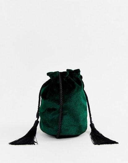 Reclaimed Vintage Inspired Cross Body Bag In Velvet