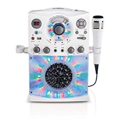 Singing Machine SML385UW Bluetooth Karaoke System with LED Disco Lights