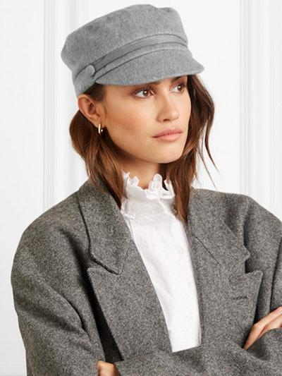 Elyse Calf Hair-Trimmed Cashmere Cap