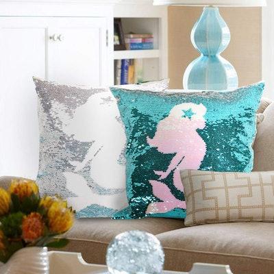 leegleri Mermaid Sequins Pillow Case