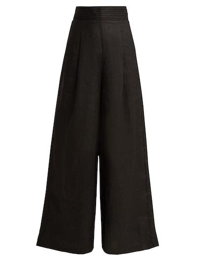 Tate Wide-Leg Linen Trousers