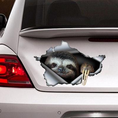 Sloth Sticker, Car Decoration, Car Sticker, Sloth Decal