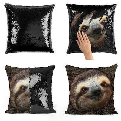 Sloth Sequin Pillow