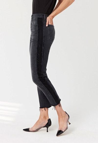 W3 Cora Crop Jean In Black Jolee