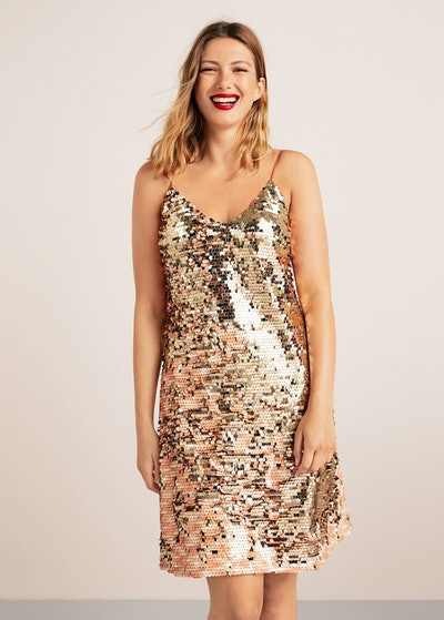 Plus Reversible Sequins Dress