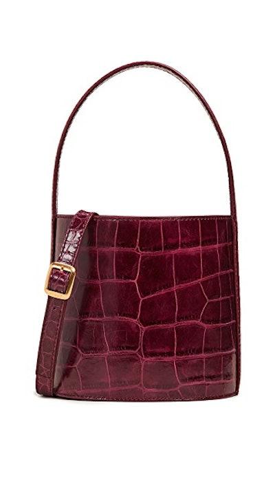 STAUD Bissett Bag in Garnet