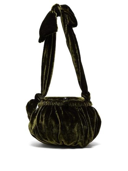 Joana Gathered Velvet Bag