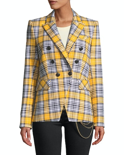 Miller Plaid Double-Breasted Jacket