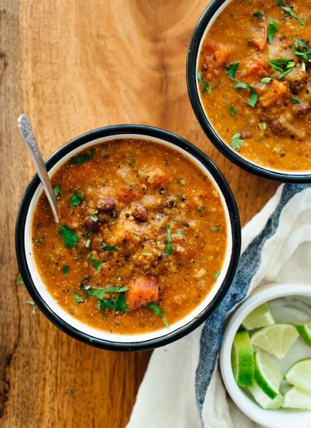 two bowls of mexican quinoa stew