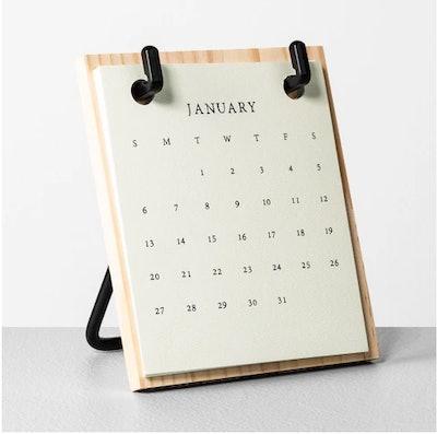 2019 Desk Calendar Wooden