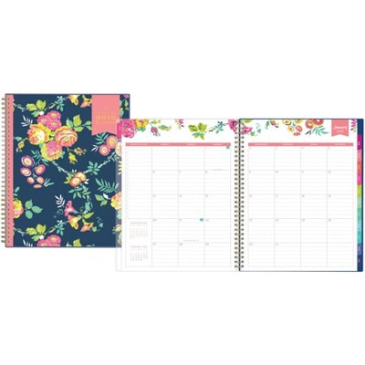 """Day Designer for Blue Sky 2019 Weekly & Monthly Planner, Twin-Wire Binding, 8.5"""" x 11"""", Peyton Navy"""