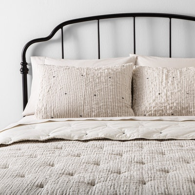 Hearth & Hand Simple Stripe Embroidered Comforter Set
