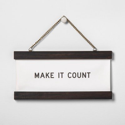"""Hearth & Home """"Make It Count"""" Wall Banner"""