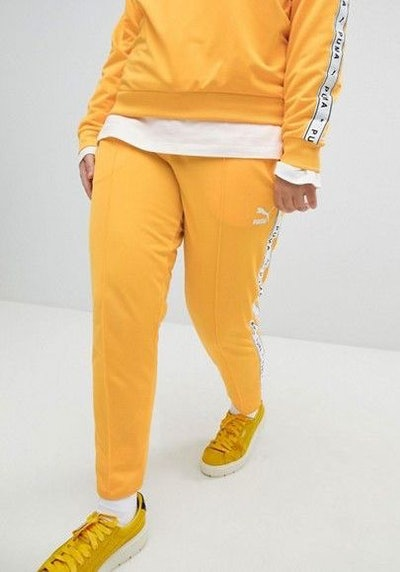 Taped Side Stripe Track Pants In Yellow