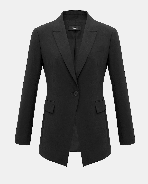 Good Wool Long Blazer