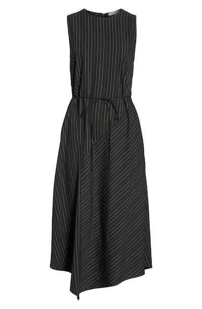 Vince Bar Striped Paneled Dress