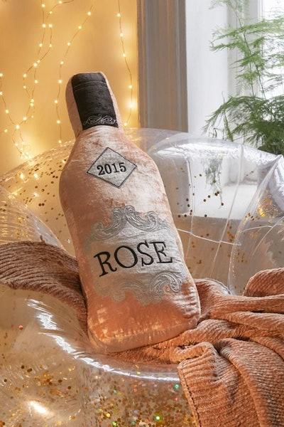 Rosé Bottle Oversized Pillow