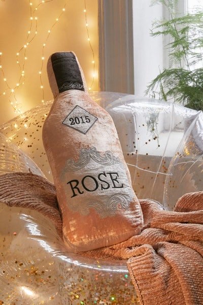 Rosé Bottle Oversized Pillow