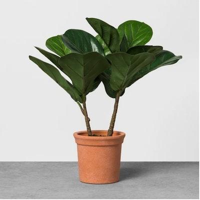 Faux Fiddle Leaf Plant in Terracotta Pot