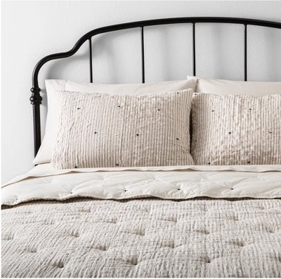 Comforter Set - Simple Stripe with Stitch Embroidery