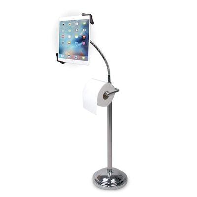 CTA Digital Toilet Paper And Tablet Holder