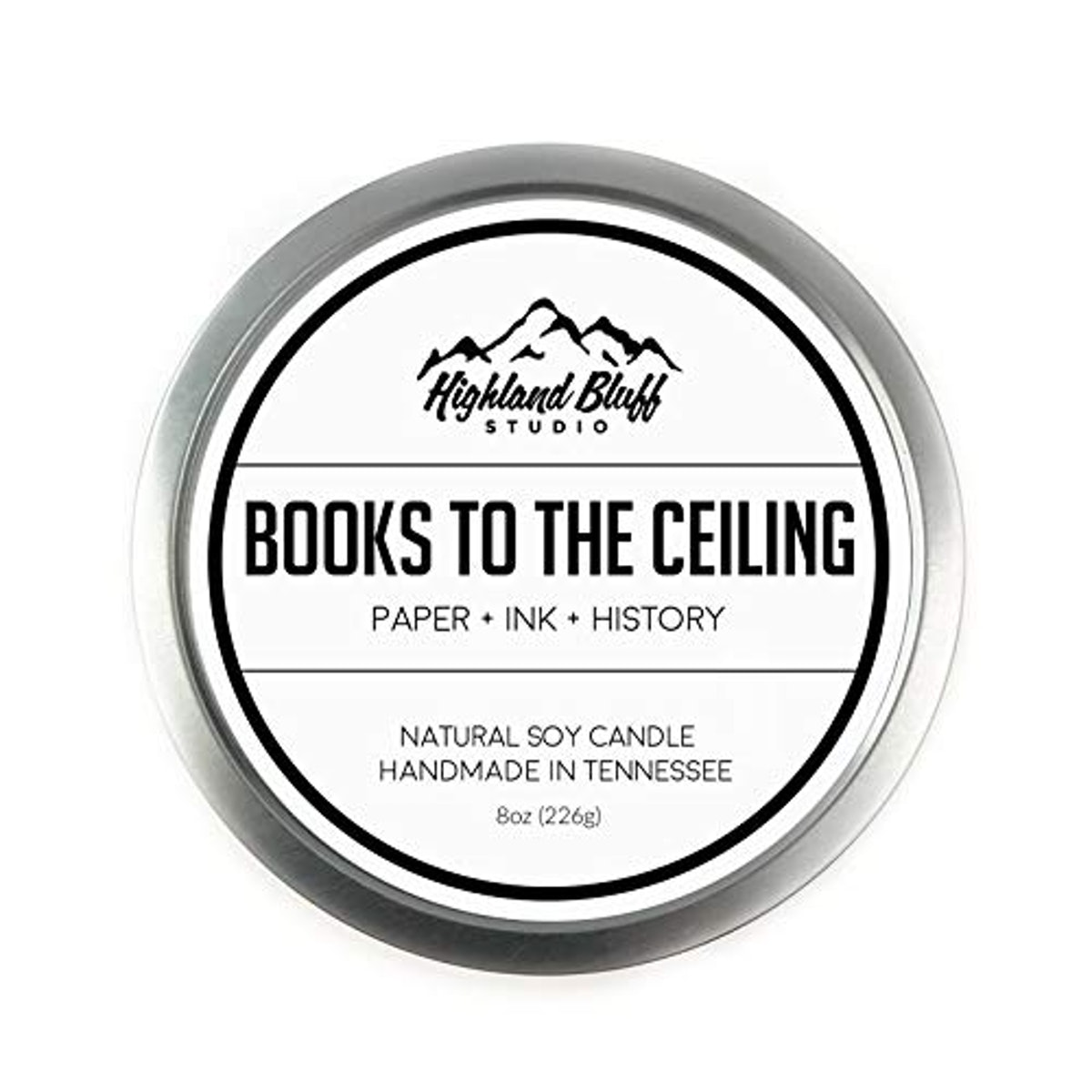 Highland Bluff Studio Books To The Ceiling Soy Candle