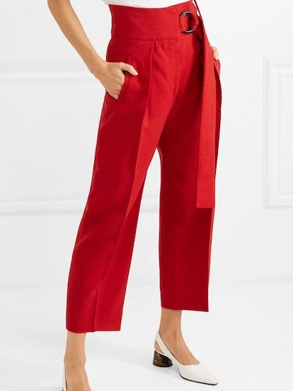 Herma Canvas Straight-Leg Pants