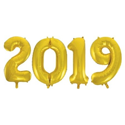 2019 Foil Number Balloon Set