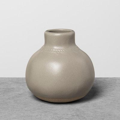Hearth & Hand Gray Glazed Vase