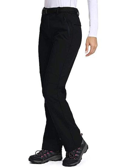 Toomett Women's Fleece-Lined Soft Shell Hiking Pants