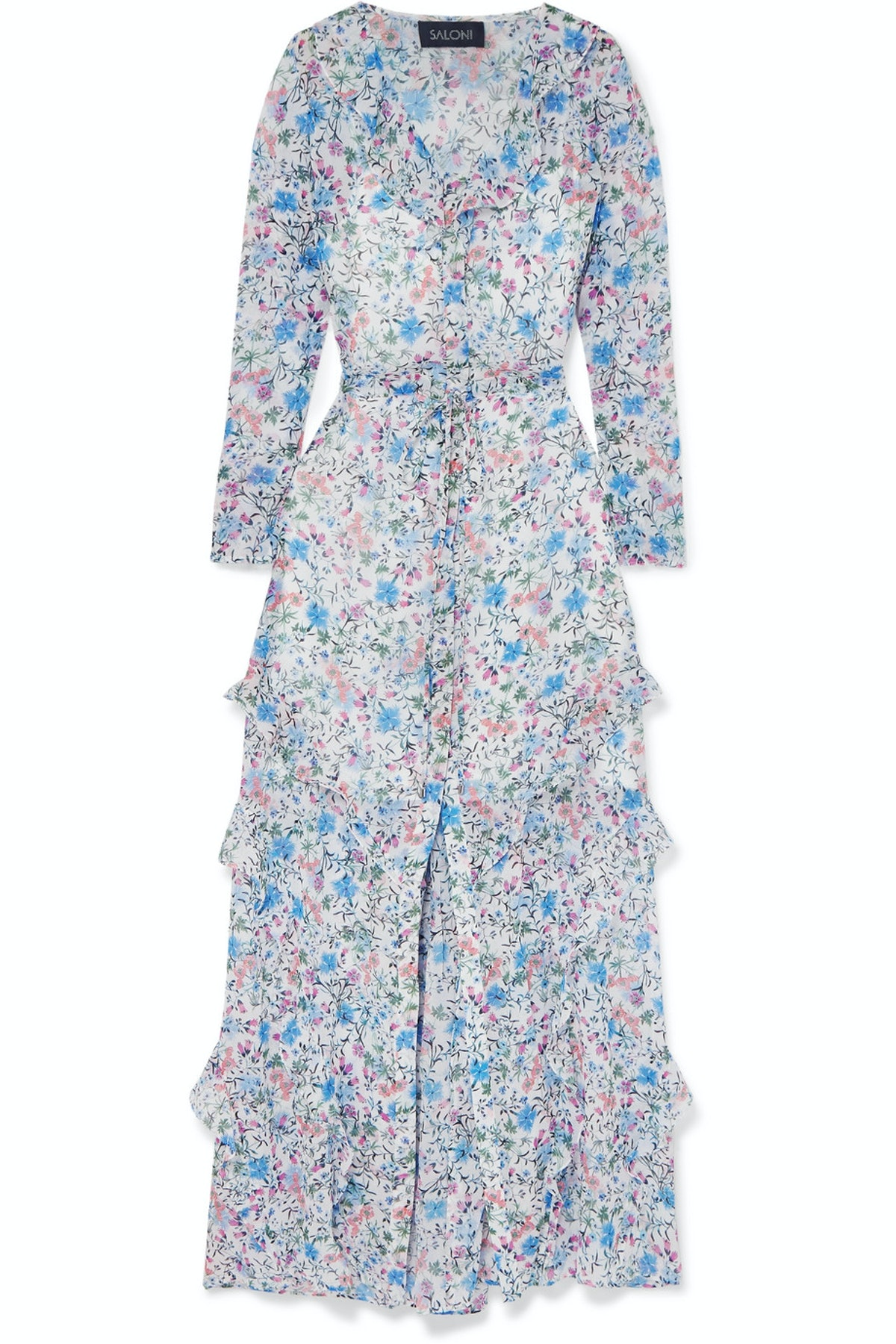 Izzie Printed Silk-Georgette Midi Dress