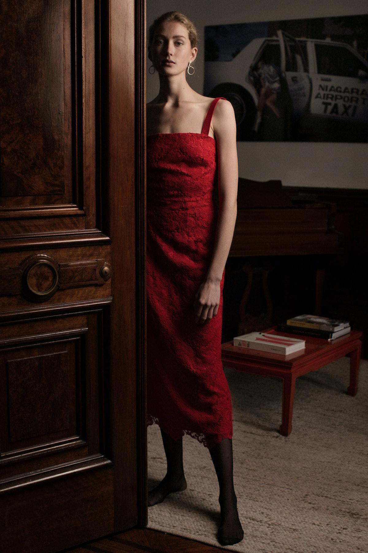 Wool Lace Sherry Dress