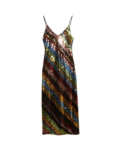 Sequinned Strappy Dress