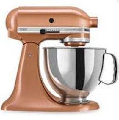KitchenAid® Custom Metallic® Series 5 Quart Tilt-Head Stand Mixer in Copper